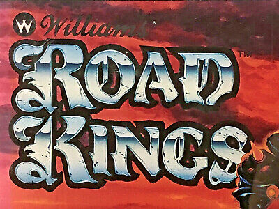 NOS Road Kings Pinball Machine Game Backglass Original