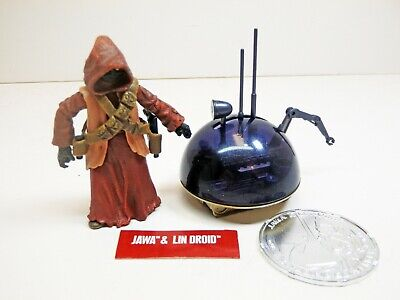 Star Wars TAC Jawa & LIN Droid Action Figures + Coin - Loose, Mint!
