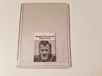 Marshall Edwards Wake Forest University  1939 Football Pictorial Roto Panel