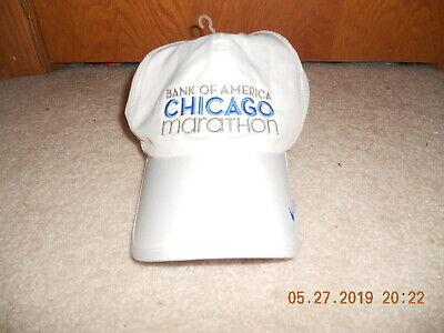 4e697271 Nwot Chicago Marathon Running Hat Cap Lightweight Dri-Fit White 10-9-11 Run  Baby