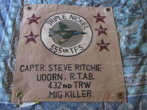 V/N USAF CAPT STEVE RITCHIE MIG KILLER  VICTORY 555 TFS   READY ROOM  FLAG