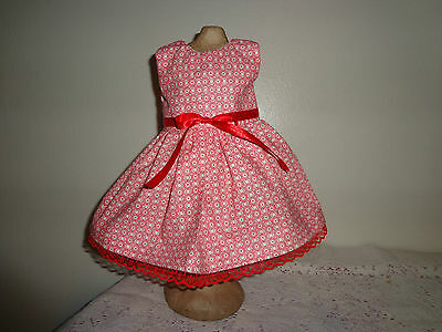 doll dress for 18 inch american girl handmade rare red circle off white 107 - Off White Dresses For Girls