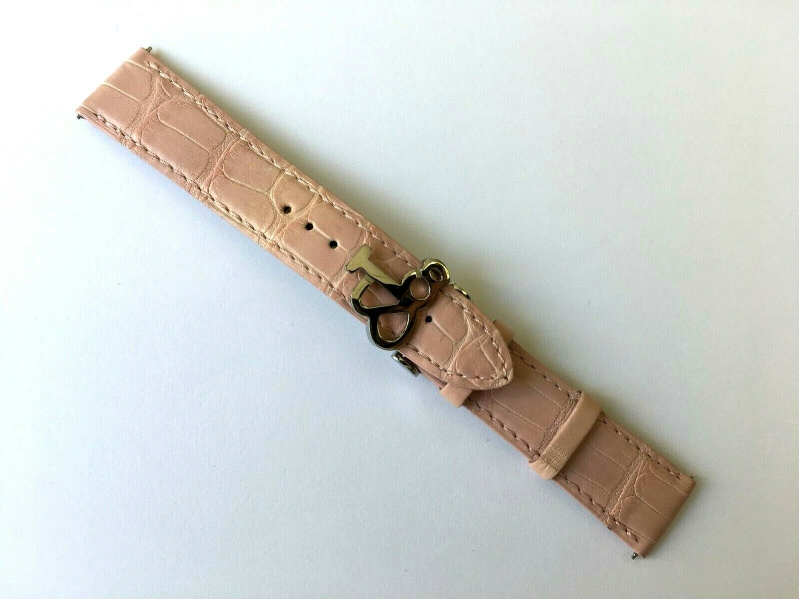 Original Jacob & Co. 20 mm Pink Alligator Uhrenarmband