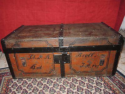 Antiker Überseekoffer Reisekoffer LoftTisch Schatzkiste Vintage Truhe Shabby