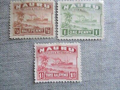Nauru, Scott#17-19a, MH