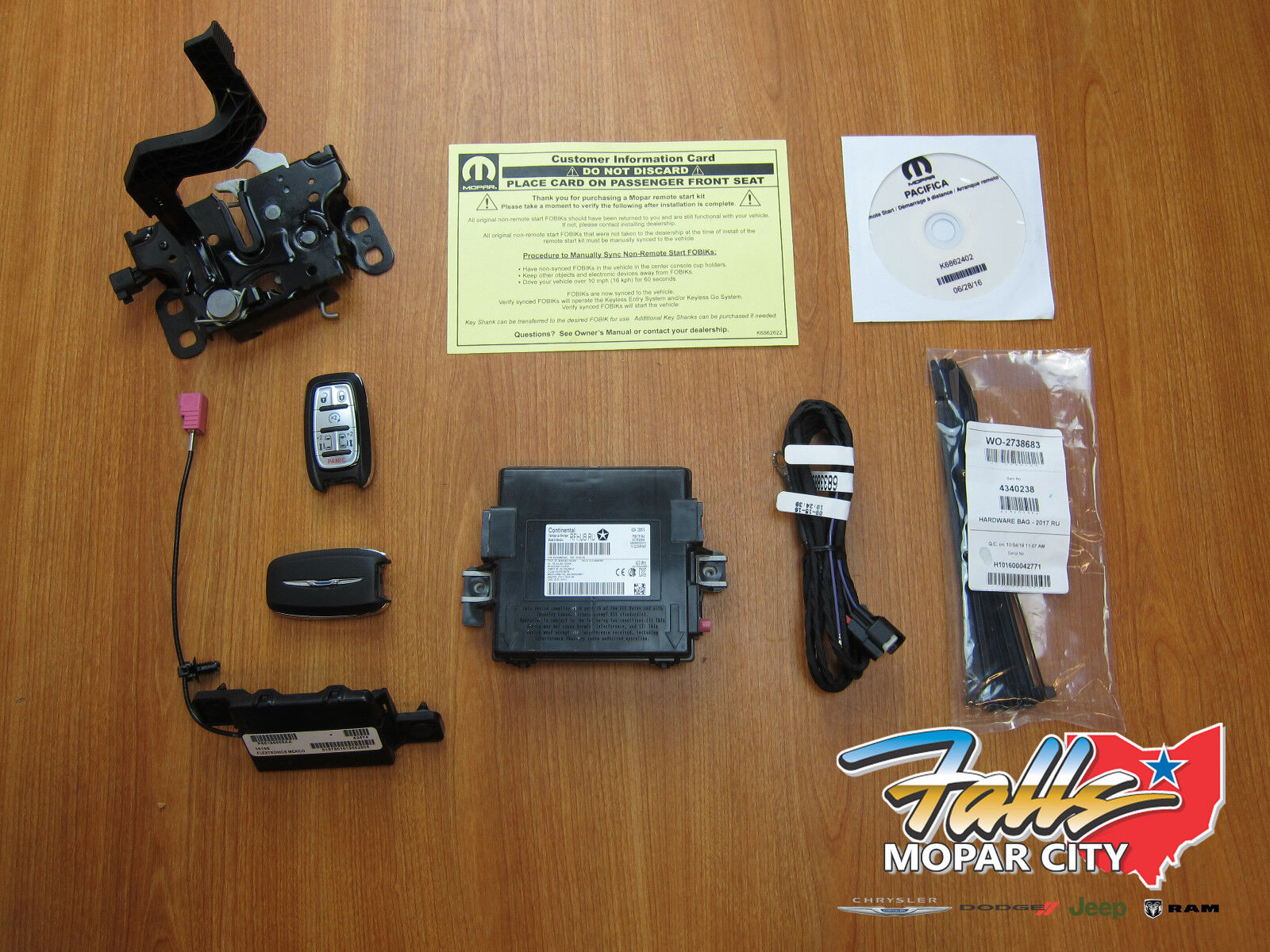 2017 Chrysler Pacifica Keyless Entry Remote Start System Kit Mopar OEM