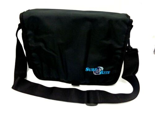 Surf Rite Deluxe Surf Bag 5-Tube Tackle Bag w/ Shoulder Strap - Black - NEW