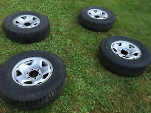 """16"""" winter rims and tires 245/75/16"""