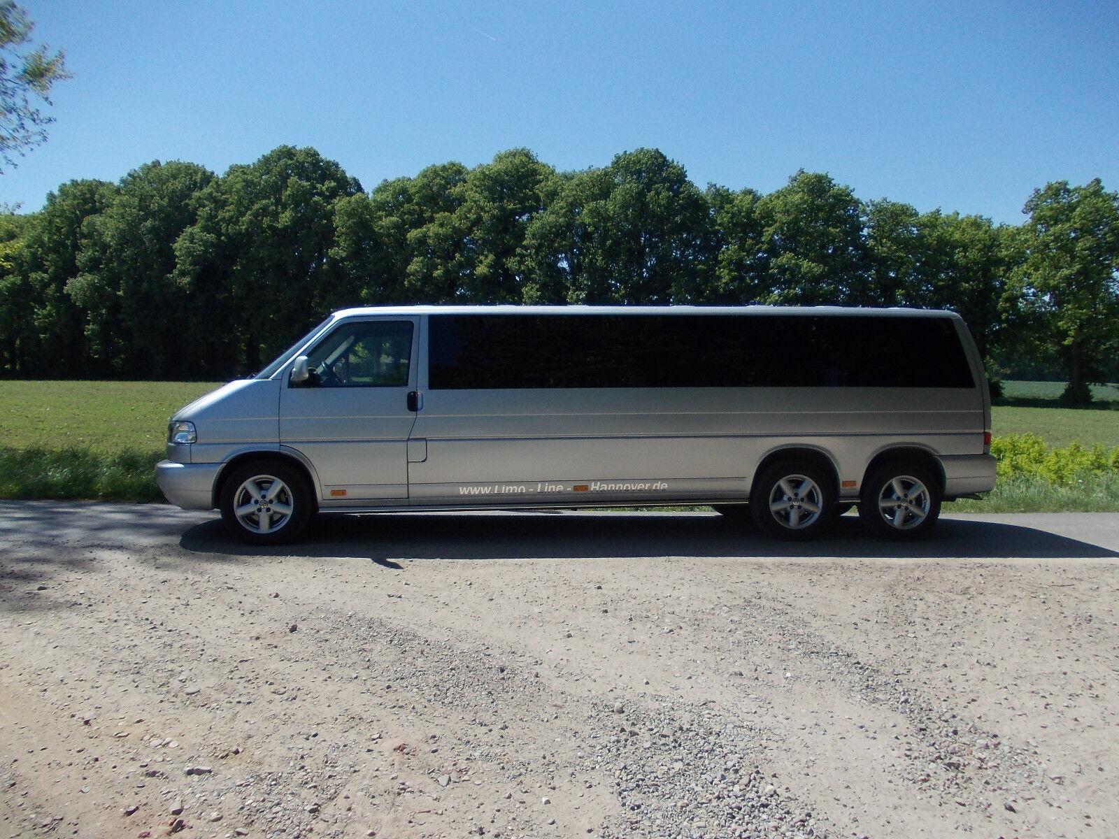 VW T4 Stretchlimousine Limousine VIP Limo VW Bus mit 3 Achsen Shuttlebus