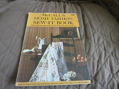 Vintage McCall's Home Fashion Sew It Book 1965 1960's Housewife Homemaking
