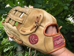 Softball glove - Adult large right hand leather Rawlings