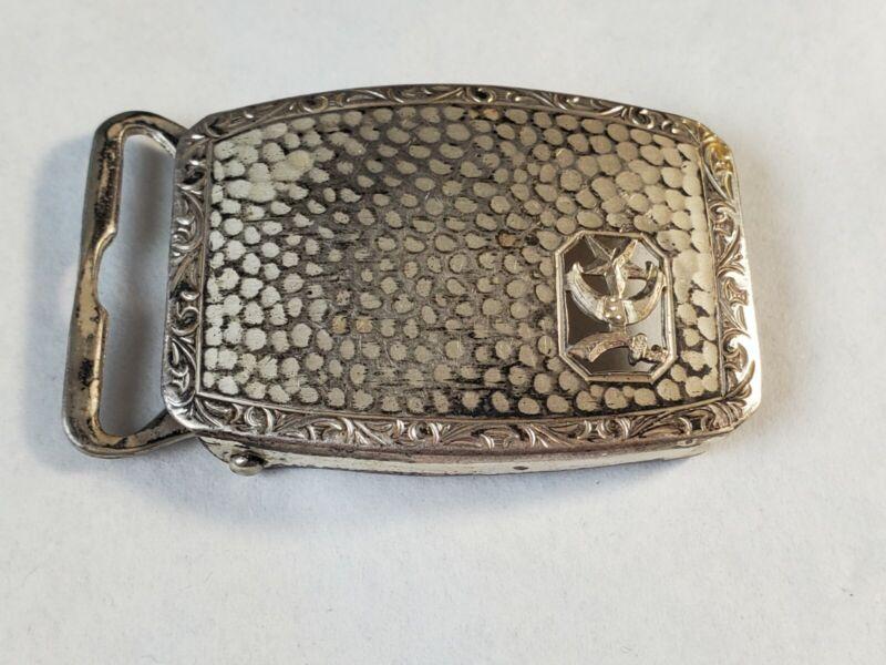 Vintage Shriner Sterling Belt Buckle