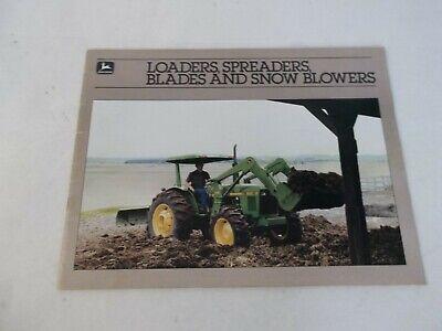 John Deere Loaders Spreaders Blades And Snow Blowers Brochure