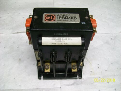 RDP-11100 WARD LEONARD MOTOR STARTER CONTACTOR 56 AMP 600 VDC