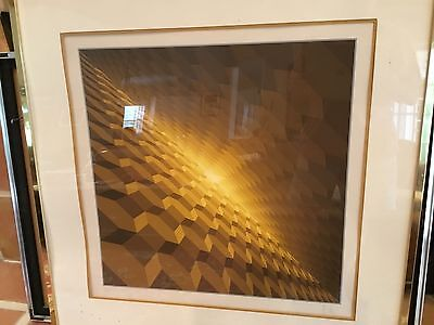 Victor Vasarely lithograph Horizon Structure Jaune Op Art signed #'d 36/200