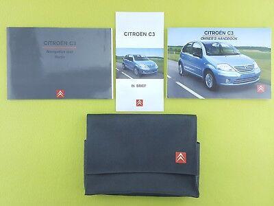 CITROEN C3 (2002 - 2005) Owners Manual / Handbook + Navi Guide + Wallet