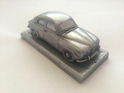 Classic Sweden car Sab 96 V4 1.43 Scale Pewter Effect Model Car
