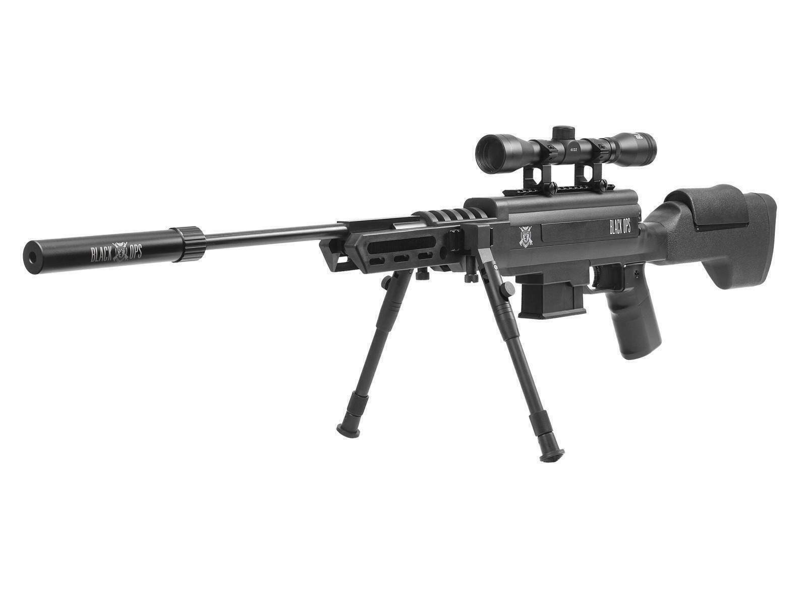 Black Ops Tactical Sniper Air Rifle Combo  22 Caliber With 4 X 32 Scope &  Bipod