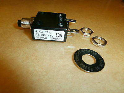 50 Amp Thermal Push Button Circuit Breaker 250 Volt B7050bnew