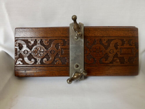 Vintage Carved Wooden Tie Press - Made in England