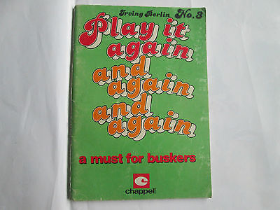 Irving Berlin Play it Again And Again song book N0 3 with 47 songs for buskers