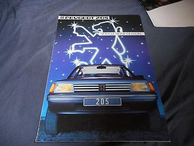 1984 Peugeot 205 Color Brochure Catalog Prospekt