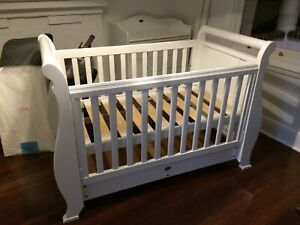 Boori Sleigh Cot and Change Table Country Collection