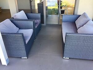 Amart woven sofa set 2 chairs, coffee table, lounge $999 new Broadbeach Waters Gold Coast City Preview