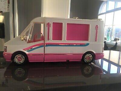 Vintage 1992 Barbie Golden Dream Motor Home Camper Van Doll Playset Mattel Extra