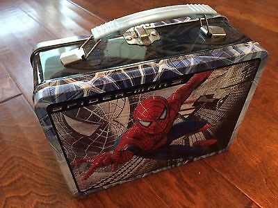 2006 Spider-Man 3 The Movie Marvel Metal Lunch Box