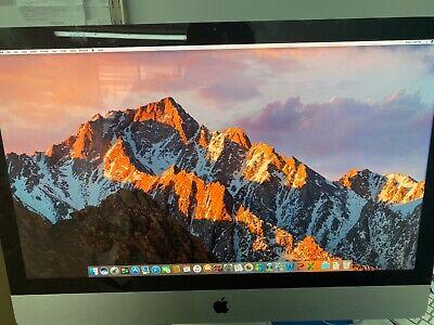 Apple iMac 27-Inch 2..8GHz Intel i7, 2 TB HDD, 8GB Sierra 10.12 w/ MS Office