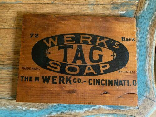 Vintage Wood Crate End - Werk Tag Soap - Laundry Room Sign - Cincinnati OH