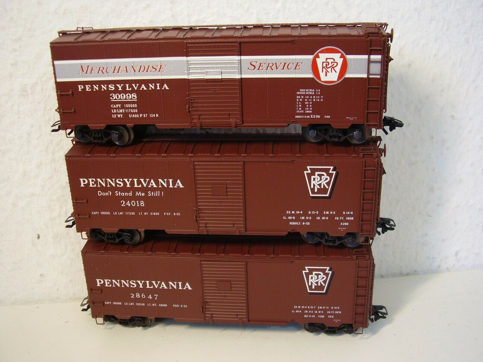 Märklin HO 45650 US Wagenset  mit 3 Wagen 40 ft Box Car Pennsylvania
