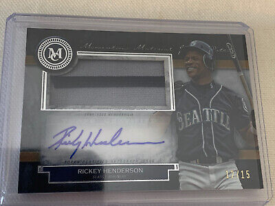 Rickey Henderson 2020 Topps Museum Collection Auto Patch /15