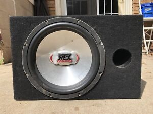"10"" MTX Subwoofer In Box"