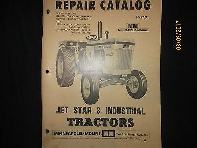 Minneapolis - Moline Repair Parts Catalog Jetstar 3 Industrial Tractors Original