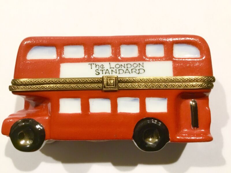 Limoges Box Double Decker Bus Hand Painted The London Standard