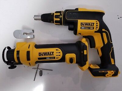 DEWALT 20V 20 VOLT DCF620B Drywall ScrewGun and DCS551B Cut Out Tool ONLY *NEW*