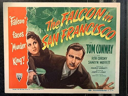 THE FALCON IN SAN FRANCISCO 1945 ORIGINAL TITLE LOBBY CARD, TOM CONWAY