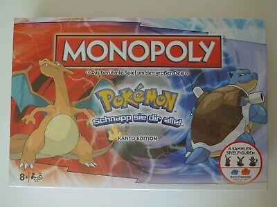 Monopoly Pokémon Kanto Edition Deutsch Spiel Brettspiel Gesellchaftsspiel OVP (Pokemon Brett Spiel)