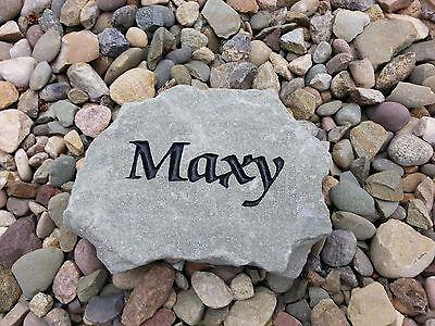 Personalized Engraved Pet Memorial Marker Dog Cat Grave Rock