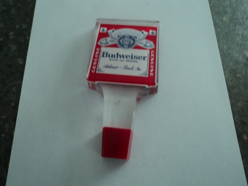Genuine Budweiser King of Beers Anheiser Bush Inc.  Clear tap handle Perfect