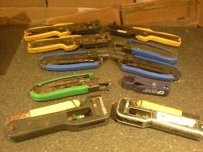 10 Coaxial Cable Crimper Compression Tools More Lot 13
