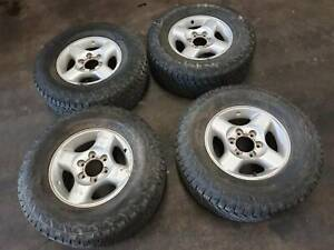 NISSAN NAVARA D22 STR MAGS WITH HANCOCK DYNAPRO TYRES STOCK NO: N0087