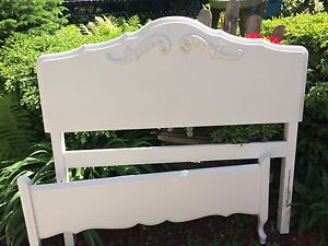 Twin size antique headboard and foot board
