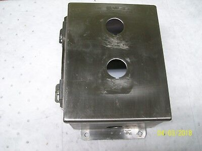 Hoffman 2 Hole Stainless Steel Enclosure A-8064chnfss