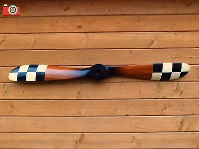 A VINTAGE STYLE SOPWITH WOODEN AIRCRAFT PROPELLER 186cm//73.25in BLACK TIPS EDGED
