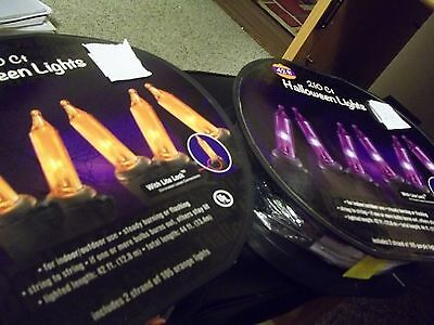 HALLOWEEN 42 FT. HALLOWEEN LIGHTS PURPLE OR ORANGE 210 CT LIGHTS INDOOR/OUTDOOR