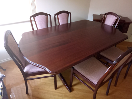 Dining Table with 6 Chairs Sideboard TV cabinetdining table in Western Australia   Gumtree Australia Free Local  . Dining Table Chairs Australia. Home Design Ideas