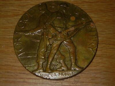 Large Bronze American Legion School Award Medal Medallion